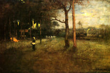 MOONLIGHT TARPON SPRINGS FLORIDA USA LANDSCAPE PAINTING BY GEORGE INNESS REPRO
