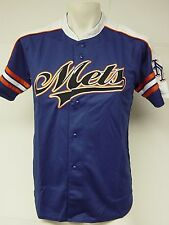 NEW Youth Kids Boys STITCHES New York METS MLB Blue Stitched Baseball Jersey