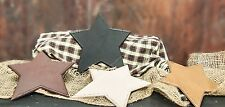 Country Primitive Painted Wooden Hanging Stars 4 Color Choices