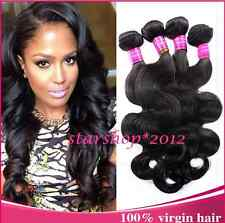 7A Virgin Indian Human Hair body wave Extensions Weave Wefts 3 Bundles 150g B1