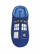 NWT Doctor Who Mens Tardis Slippers Indoor Outdoor S M L XL