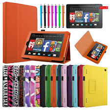 """For 2014 Amazon Kindle Fire HD 7"""" Inch Folio PU Leather Case Cover Stand"""
