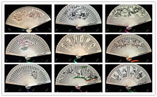 Chinese Japanese Sandalwood hand-held Fan Wooden Scented Wedding Party Gift