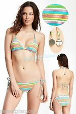 $156 Trina Turk 2 pc Tennis Anyone Triangle Top & Tie Side Bottom Bikini Set