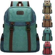 New Men's Vintage Canvas Duffel Backpack Camping Gym Shoulder Bag Sport Rucksack