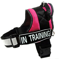 SERVICE DOG VEST Reflective Harness Velcro Patch IN TRAINING POLICE THERAPY DOG