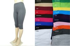 NEW COTTON SPANDEX GYM ATHLETIC YOGA SPORTS CAPRI LEGGING REGULAR PLUS S-3X