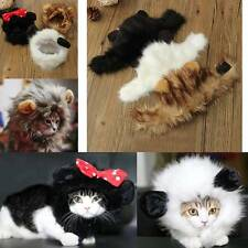 Lovely Cute Pet Cat Lion Mane Wig Costume Stuffed Hat Dressing Outfit w/ Ears