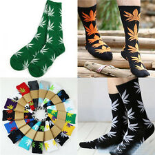 Charm 34 Colors Men/Women Plantlife Marijuana Weed Leaf Cotton High Dress Socks