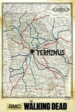 The Walking Dead Terminus Map Poster 61x91.5cm