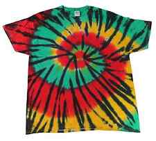 Rasta Web Multi-Color, Tie Dye T-Shirts, S, M, L, XL, 2X, 3X, Heavyweight Cotton