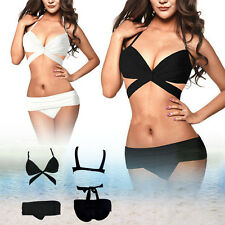 Sexy Women Bandeau Bikini Set Push Up Padded Bra Swimwear Top & Bottom Swimsuit
