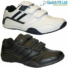 MENS RUNNING TRAINERS CASUAL VELCRO GYM WALKING SPORTS SHOES BOOTS SIZES 6-12