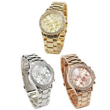 Geneva Date Quartz Wrist Watch Female Luxury Crystal Lady Ladies Watch Stylish