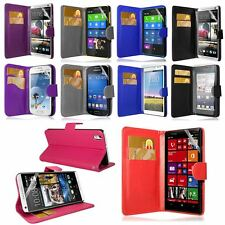 PU LEATHER FLIP CASE COVER FOR NOKIA LUMIA & XL X+ PLUS FREE SCREEN PROTECTOR