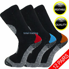 12 Pairs Mens Ultimate Work Boot Socks Cushion Sole Reinforced Toe Size 6-11 SE