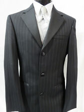 46R Mens Black Joseph Abboud 3 Btn Notch New With Tags Tuxedo Jacket with Pants