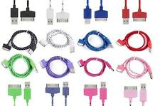 Braided Charging lead USB Data &Sync Charger Cable for iPhone 4 4S 3GS ipod ipad