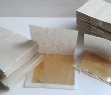 Gold leaf 100% (10-100 sheets) for gilding, nail art, decorations, crafts.