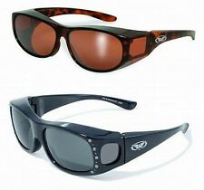 Womens Safety Sunglasses FIT OVER PRESCRIPTION RX GLASSES Fitover *Choice*