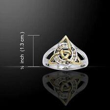 Celtic Knot TRIQUETRA Ring .925 Silver Gold GODDESS Irish Trinity SPECIAL ORDER
