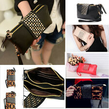 New Women Girl Card Coin Zip Holder Leather Wallet Lady Clutch Purse Handbag Bag