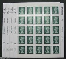 2014 DE LA RUE - M14L -  2p -  Full Sheet of 25 inc. Cyl, Print date etc