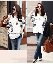 New Lady Loose Tops Batwing T-Shirt Sleeve V-Neck Cotton Shirt Casual Blouse