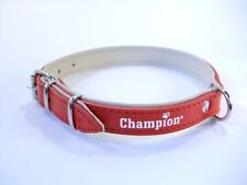 Strong Champion  Hand Crafted LEATHER TOP & BOTTOM DOG PUPPY COLLAR