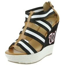 Cuce Shoes MLB Baseball Women's Washington Nationals The Rookie II Wedges Heels