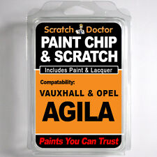 VAUXHALL / OPEL AGILA TOUCH UP PAINT Chip Scratch Car Repair Kit . 2000 - 2014