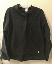 Black Solid BAJA Shirt Woven Mexican Hoodie Surfer Pullover S-M-L-XL-2XL
