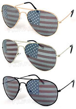 3 Pairs American USA Flag Aviator Sunglasses (Gd, Sil, Blk, Gm) Pick your color!