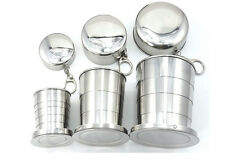 Retractable Stainless Steel Travel Folding Keychain Portable Collapsible Cup