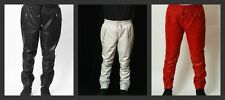 Mens Womens Genuine Sheepskin Leather Sweat pants / Joggers Relaxed Fit  CD D C
