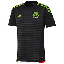 adidas Mexico 2014 - 2016 Home Soccer Jersey Brand New Black / Red / Green