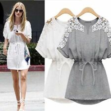 2015 New Sexy Women Casual Lace Short Sleeve Party Evening Cocktail Mini Dress