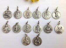 THE PATRON SAINTS - 925 STERLING SILVER MEDALS - FIND YOUR FAVORITE SAINTS