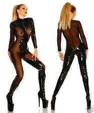 PVC Vampire Sexy Faux Leather Cosplay Costume Bodysuit Goth HALLOWEEN PLUS SIZE