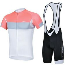 Outdoor Cycling Clothing Bicycle Short Sleeve Jersey + (Bib) Shorts 3D GEL Pad