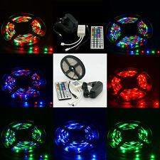 5M RGB 3528/5050 SMD 300 LED Strip light Lamp 24/44key Remote 5A/2A Power Supply