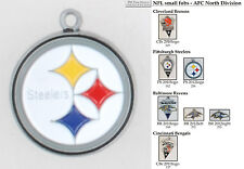 NFL team logo fobs (AFC North), various teams & chain finishing options