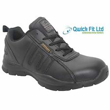 MENS GROUNDWORK BLACK WORK BOOTS LIGHTWEIGHT STEEL TOE CAP SAFETY TRAINERS SHOES