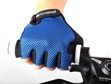 New SAHOO Bike Bicycle Cycling Blue Ultra-breathable Wearable Half Finger Glove