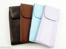 Soft SLIP-IN SPECTACLE Glasses CASE ' Leather look ' Pouch SPEC CASE 4 COLOURS