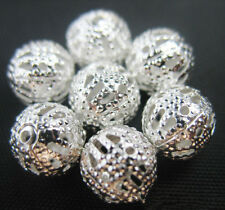 Free NEW Lots Bulk Jewellery Design Silver Hollow spacing Findings Beads 4~12MM