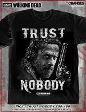 THE WALKING DEAD RICK TRUST NOBODY DARYL DIXON TV AMC GUN FIRE T SHIRT S-3XL