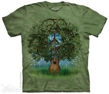 THE MOUNTAIN GUITAR TREE PEACE SIGN SYMBOL HIPPIE LOVE MUSIC T TEE SHIRT S-5XL