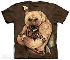 THE MOUNTAIN TRIBAL BEAR NATIVE AMERICAN INDIAN FANTASY FIERCE T TEE SHIRT S-5XL