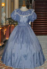 Victorian American Civil War 3pc pale blue costume fancy dress costume 22-32